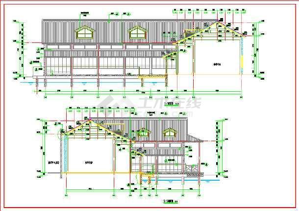 江南地区木结构咖啡书店建筑施工图图片3图片