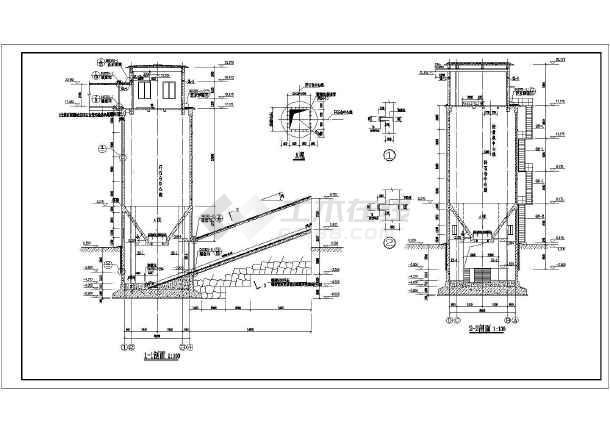 某钢筋混凝土插件圆形及筒仓施工图_cad暗道cad图纸要注册图片