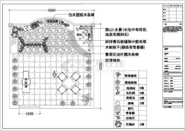 某别墅阳台花园景观设计详细施工图纸