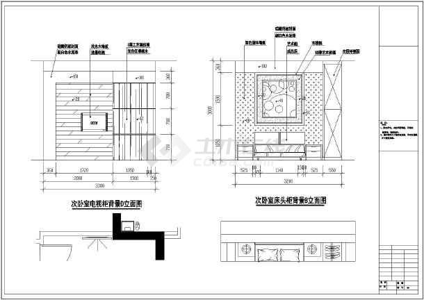 福建剪力墙结构住宅(小三居)室内装修设计施工图