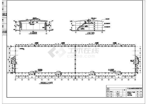 某地单层排架结构粮库建筑设计施工图