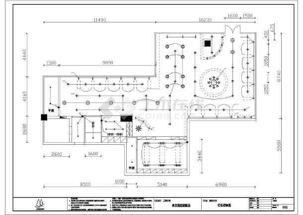 如皋框架结构美发连锁店室内装修设计施工图