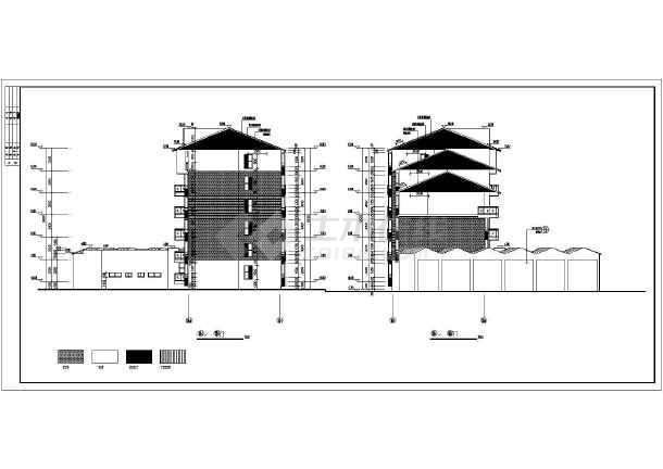 某地六层坡屋顶商住楼建筑设计施工图