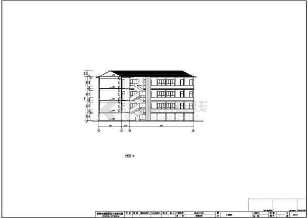 某地区中心小学建筑设计方案图(含总平面图)