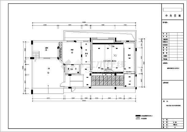 图纸 暖通设计图 户式中央空调 多联机空调设计图 某四层别墅大金中央
