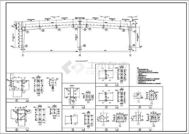 某地区钢结构厂房结构设计施工图纸