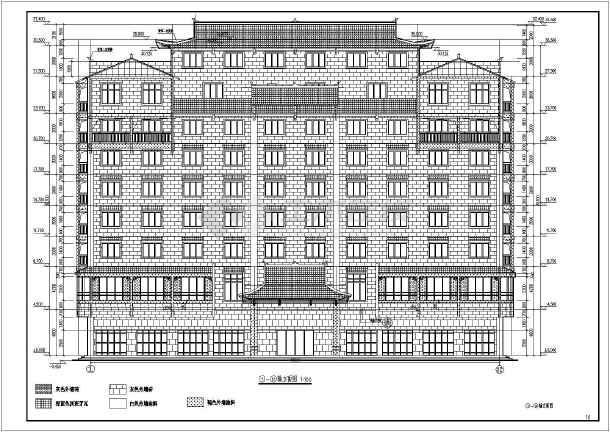 广西某八层框架结构宾馆建筑设计施工图