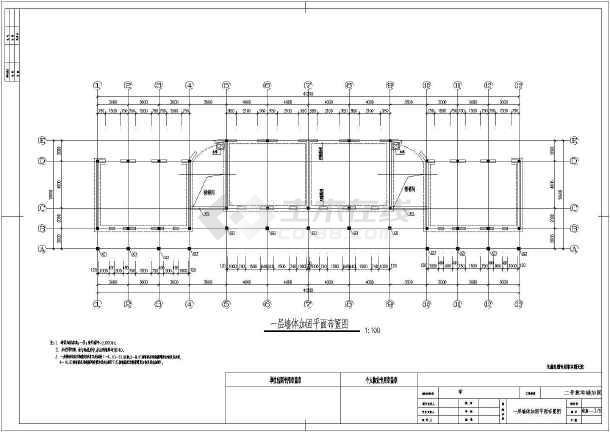 某小学三层教学楼砌体结构抗震加固设计施工图