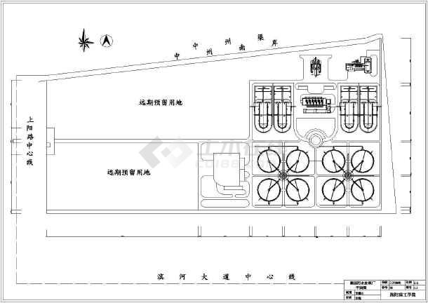 某污水处理厂总平面布置图 课程设计