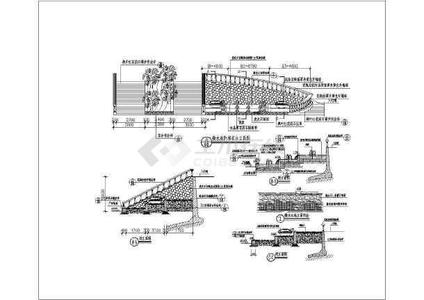 某小区欧式叠水景观设计的施工详图