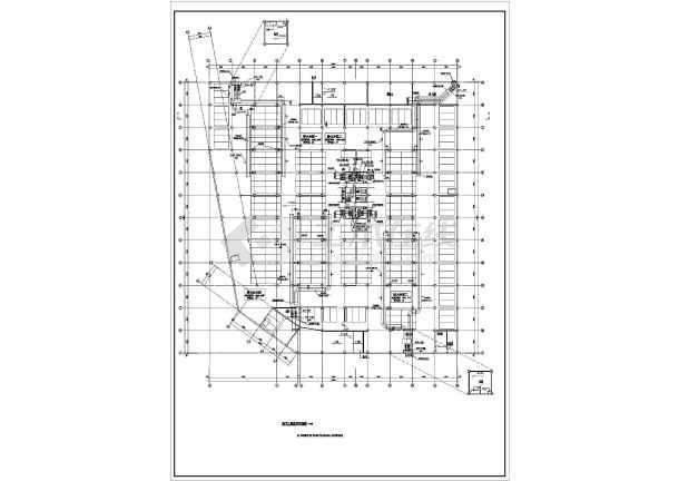 某高层建筑地下车库防通风排烟v车库施工图(五看图纸在构造柱上图片