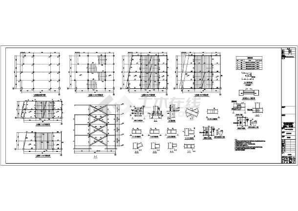 某大型三层商场超市完整钢结构施工图简介:  设计院某大型三层商场