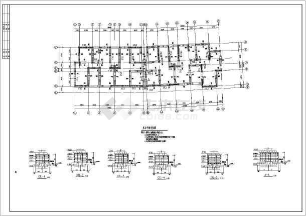 某市6层现浇钢筋混凝土剪力墙结构全套结构施工图