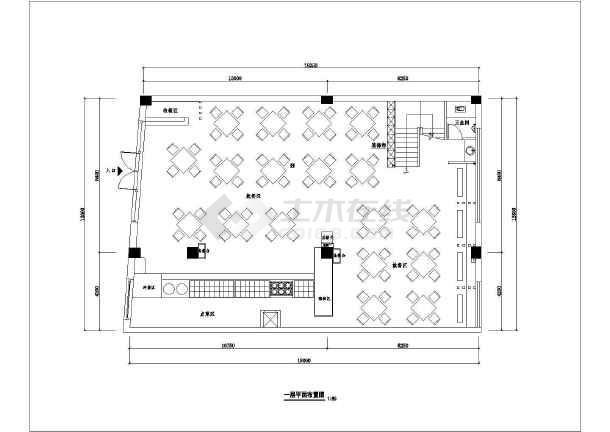 学校食堂厨房设计平面图