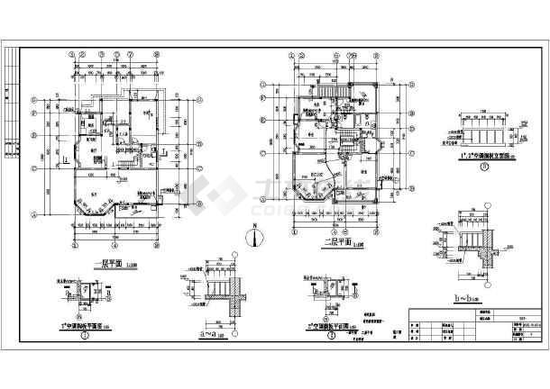 三层别墅(屋顶花园,健身房)设计图图片1