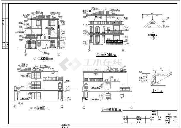 三层别墅(屋顶花园,健身房)设计图