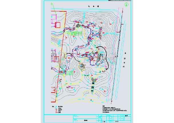 图纸 园林设计图 园林景观套图 施工图阶段套图 山水文园(四路通)隔离