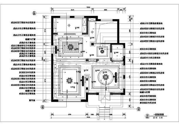 湾某三层超市建筑室内装饰设计施工图_cad图永云别墅别墅图纸图片
