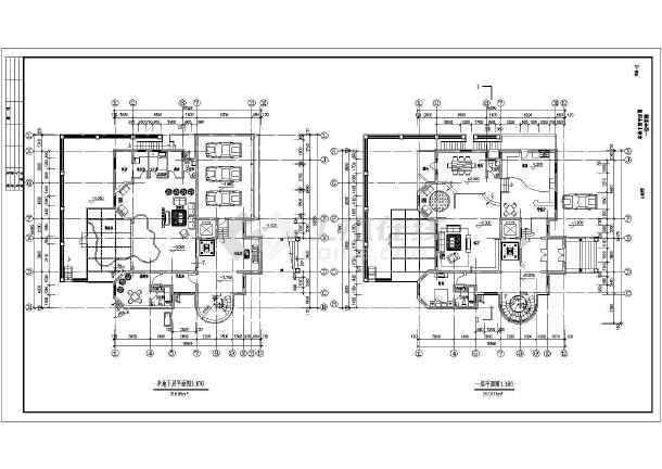 某地大型豪华欧式别墅建筑设计施工图