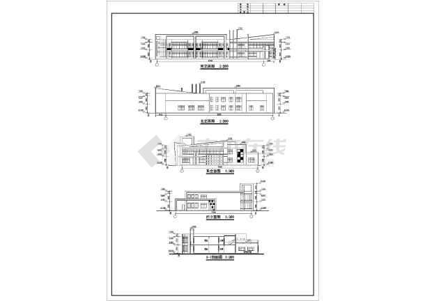 某地小型幼儿园六班建筑设计施工图纸