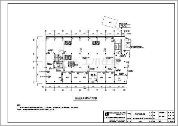 一个电气照明单层插座图纸设计施工图_cad图制作工艺网吧图片