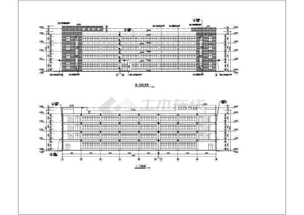 工業廠房車間建筑施工圖 某地區四層框架廠房建筑設計施工圖紙  簡介
