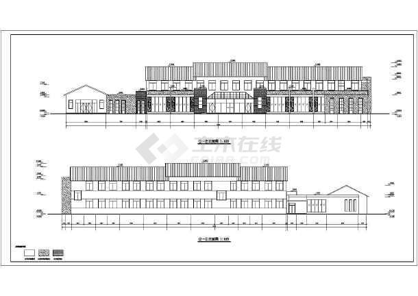 某两层坡社区机械服务中心建筑屋顶开题方案v社区报告图片