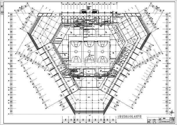 广东省某体育馆弱电工程设计施工图纸