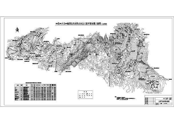 某饮水床位a饮水水利图纸设计图(技施工程)_ca坐米六车阶段农村图片