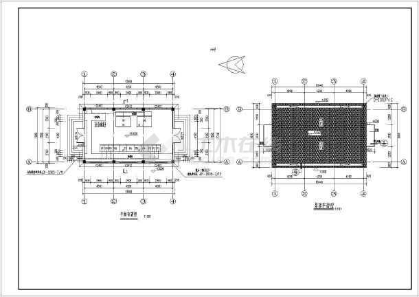 某地框架类型单层配电房建筑设计施工图结构方案六合无绝对片