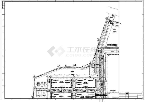 某工厂厂区内给排水综合管道工程设计图图片