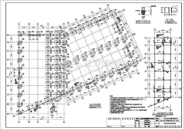 黑龙江某4S展厅和装修间(带图纸)吊车修配照明施工图v展厅说明图片
