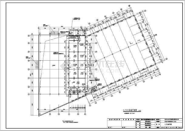 黑龙江某4S吊车和修配间(带展厅)图纸广东大型商业建筑设计规范图片