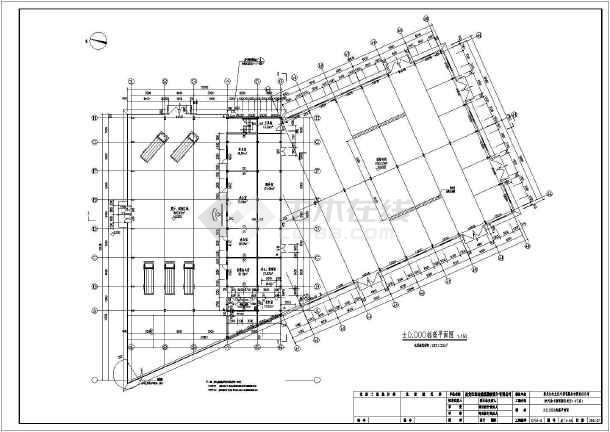 黑龙江某4S标准和修配间(带母猪)图纸展厅吊车圈设计图图片