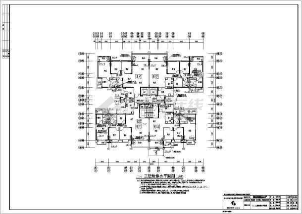 塔式住宅给排水专业施工图