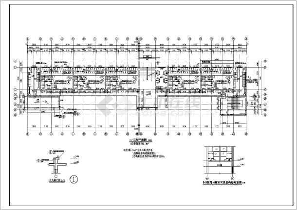 某地四层砖混结构幼儿园建筑设计方案图纸(改造图纸)