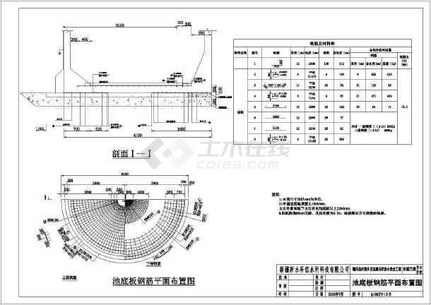 150m3圆形蓄水池(清水池)国标结构图以及钢筋图
