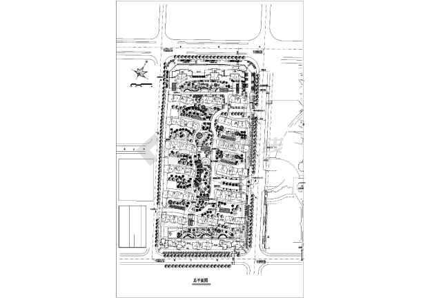 某城市住宅小区建筑规划设计总平面图