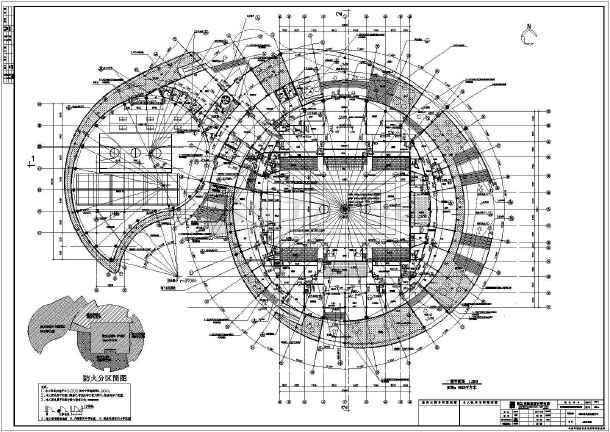浙江大型体育馆建筑结构全套设计塔吊图纸附着施工50图纸型图片