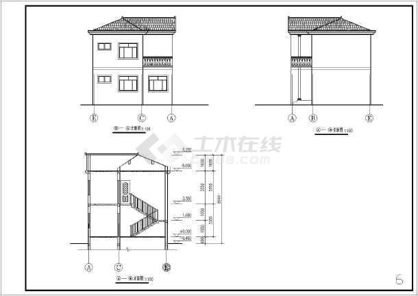 新农村建设一套小别墅方案设计图纸