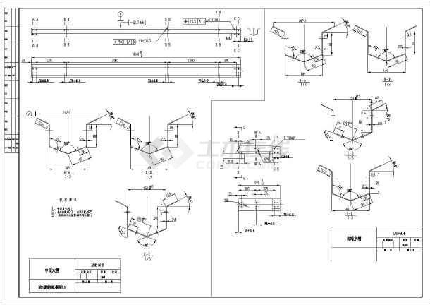 某地区玻璃大棚钢架结构设计施工图纸