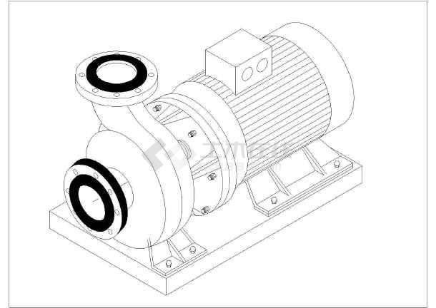 某离心式图纸轴测v图纸水泵图纸大样_cad标准拼图纸豆猫kt图片