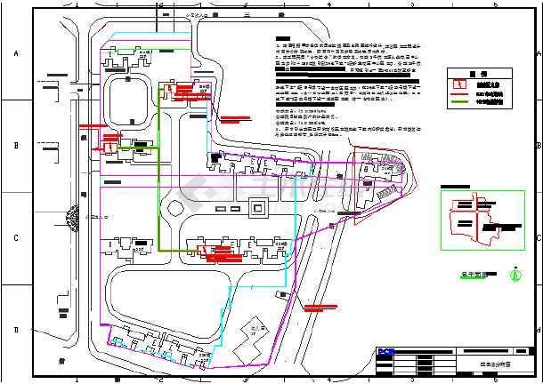 图纸商住楼建筑高低压设计图纸_cad风机下载静音新高层cad图片