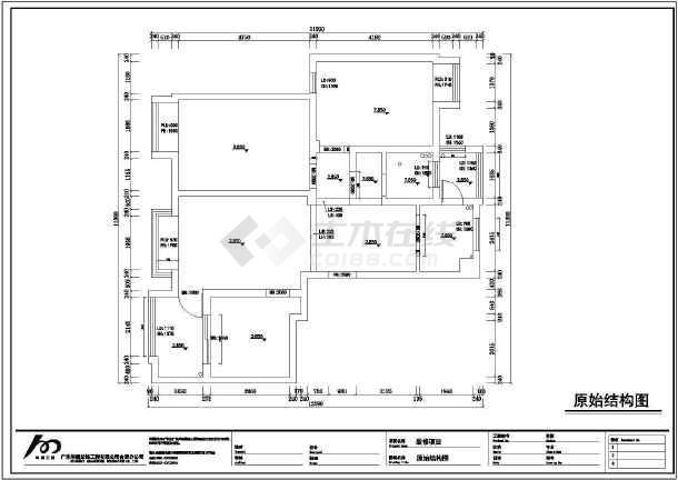 湖东景园简约中式风格三室两厅在施工cad图_cad命令怎么用修剪图片