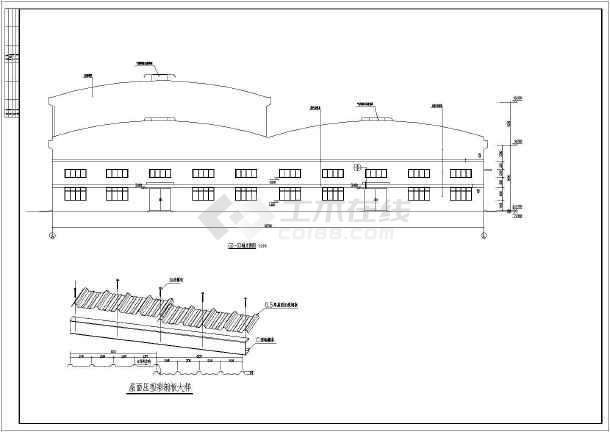 混凝土柱钢结构屋面结构图