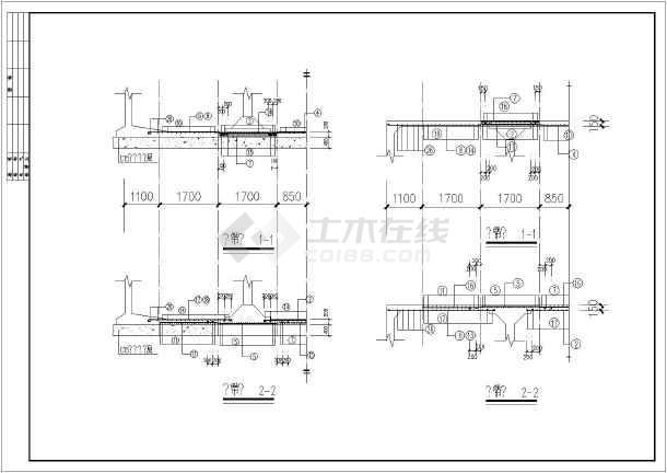 某地区贮水池建筑结构图(含设计说明)