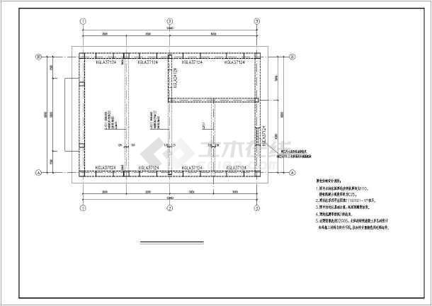 本图纸为:某锅炉房钢筋混凝土结构施工图及设备基础详图