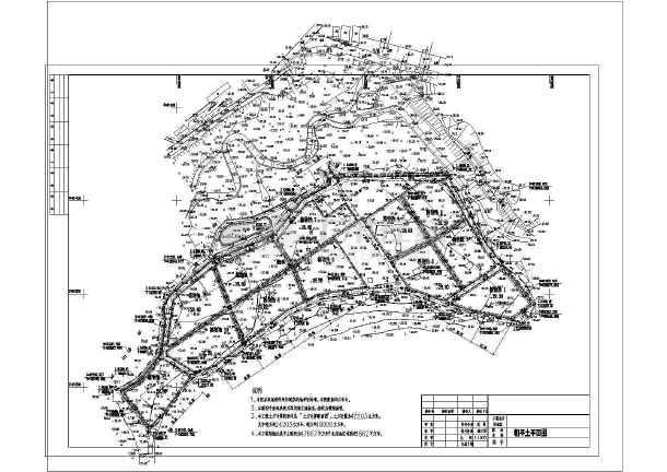 大型公园全套隧道设计及人工绘制土方cad建设cad计算断面图湿地图片