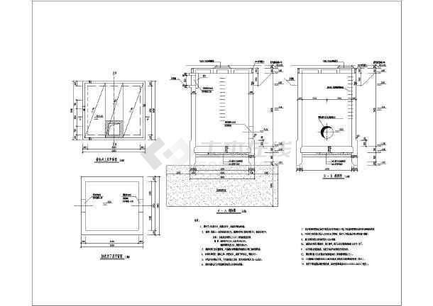 某地海船设计井及审核井结构设计大样图_cad图纸接收工作顶管图片