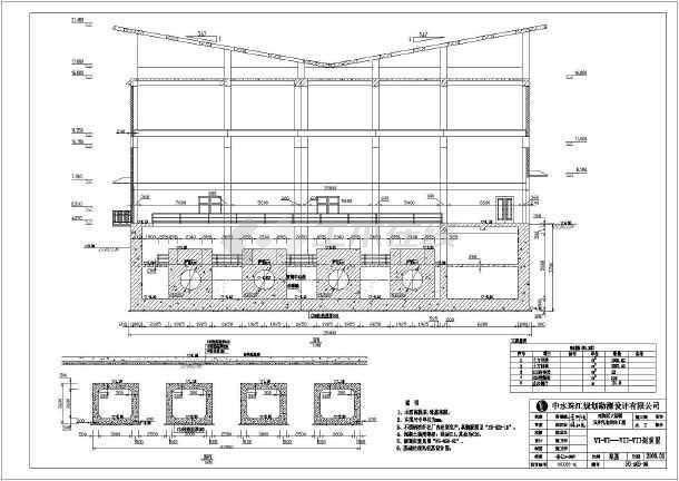 技施阶段南海区大沥镇瓜步汛电排站工程结构布置图
